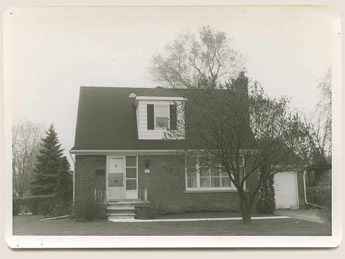 Graham Jackson's childhood home in Islington a suburb of west Toronto in the 1960s.